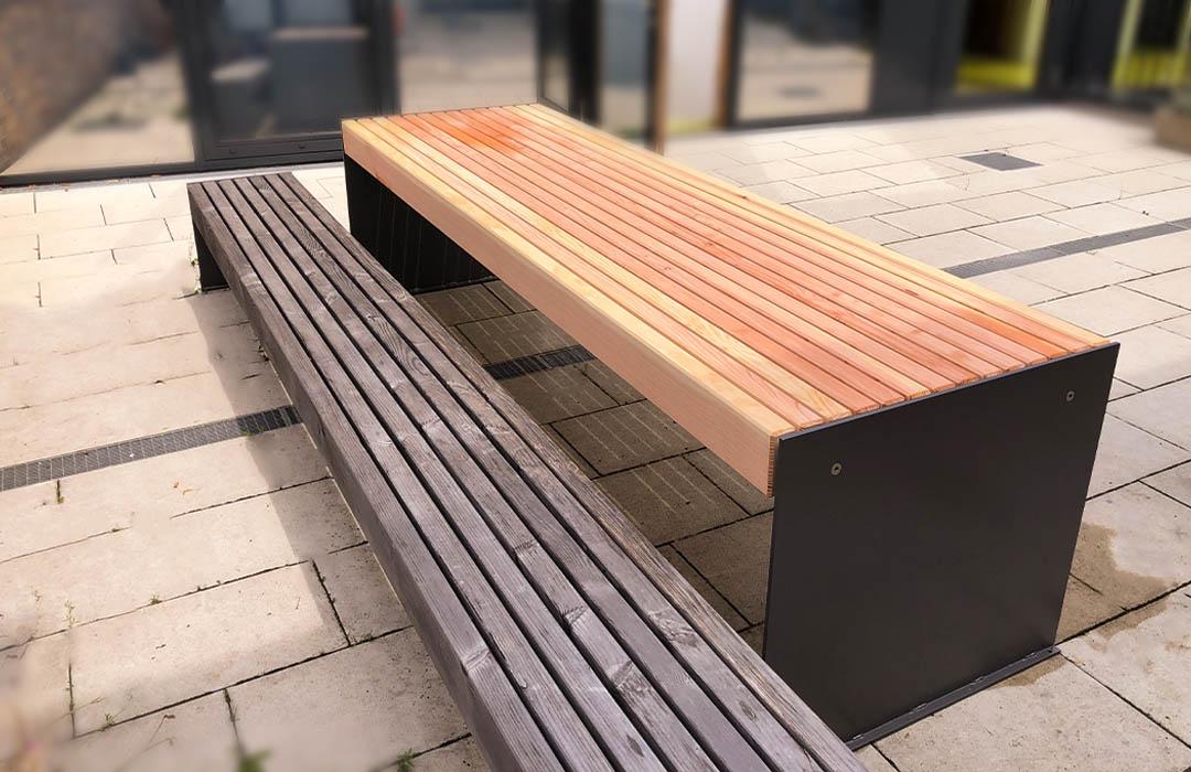 Individueller Gartentisch aus Holz Holztisch Außenbereich